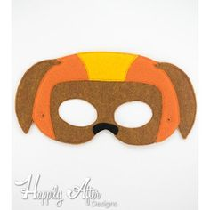 Helmet Dog Mask ITH Embroidery Design