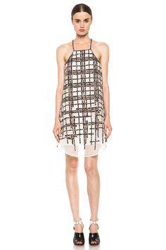 Dressed for Summer 2013: 3.1 PHILLIP LIM Degrade Plaid Applique Apron Dress in Antique White