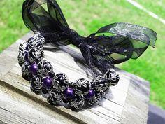Items similar to Blake Belladona Bracelet Ribbon Bracelets, Nerd Gifts, Rwby, Fancy, Purple, Trending Outfits, Unique Jewelry, Handmade Gifts, Accessories