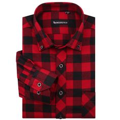 High Quality Famous Brand Men Fashion red and black plaid shirt men Long sleeve Checked Shirts Casual Slim fit Thickening MG34