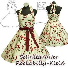 e-book Schnittmuster Rockabilly-Kleid 34-48