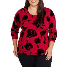 b18eafdefb0 George - Women s Plus Pullover Sweater - Walmart.com