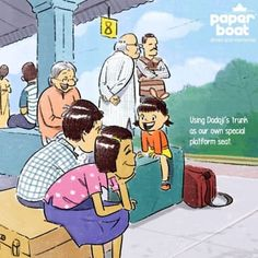 These Illustrations About Train Rides Will Take You On An Indian Railways Feels Trip - Modern Childhood Memories Quotes, School Memories, My Childhood Memories, Sweet Memories, Cute Quotes For Kids, Happy Kids Quotes, Adult Children Quotes, Happy Children, Art Children