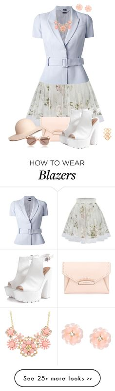 """""""Sunny Style in Cream and Nude"""" by feelgood35 on Polyvore"""