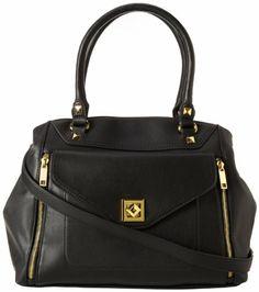 Jessica Simpson Hadley Satchel Top Handle Bag, Black