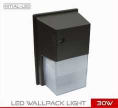 LED 30W WALLPACK LIGHT SQUARE EQUIVALENT 300W
