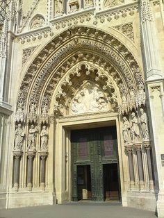 the door of the Cathedral, Zagreb, Croatia