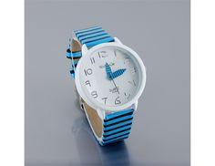 Fashion Stripes Strap Wrist Watch Round Dial Watch Design for Ladies $5.94  #eozy