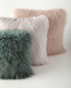 -61HW Khan Faux-Fur Pillows