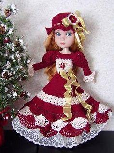Crochet Dress Set Made For Wilde/Tonner Garden Patience & Similar Size 14' Dolls