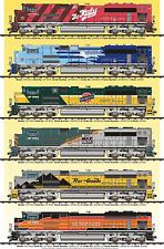 UNION PACIFIC HERITAGE LOCOMOTIVE POSTER ALL 6!!!!