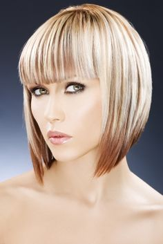 Two toned Bob with bangs
