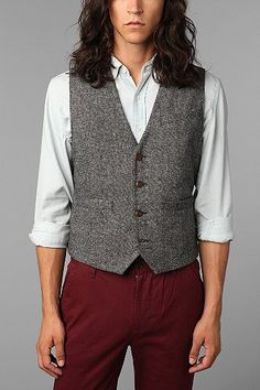 Hawkings McGill Stanton Tweed Vest. I like the pretension of the name. Where's my pipe and brandy?