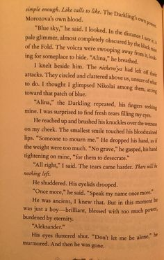 This was the page where I was 100% sure I was part of Team Darkling.even if I'm the only one.