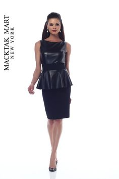 NUE by Shani S511 black leather Dress