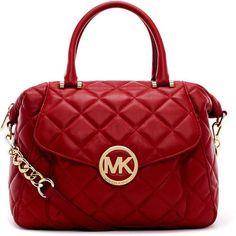 Brand New Michael Kors Fulton Quilt Red Satchel Handbag wonderful michael kors handbags