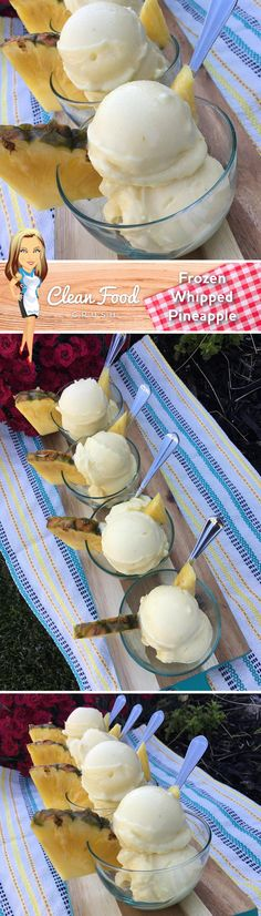Frozen Whipped Pineapple Recipe http://cleanfoodcrush.com/pineapple-whip/