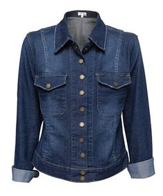Cyndi Jacket Cotton/polyester/elastane Denim Size: 6 to 24 $95.00