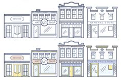 13 Business Buildings Vector - Illustrations - 3