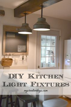 DIY Vintage Farmhouse Kitchen Light Tutorial !