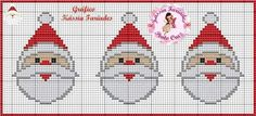 Cute Santa face X-stitch chart