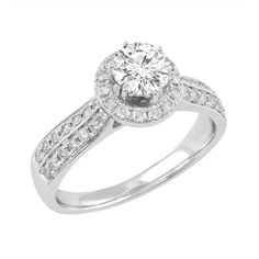 Love by Michelle Beville  18ct White Gold 1.11ct of Diamond Solitaire Ring. Available in stores or online - 9B34011