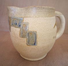celadon  blue  yellow ochre and lila glazes on a by annaceramist