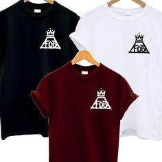 FOB POCKET LOGO T SHIRT FALL OUT BOY CROWN MUSIC AND ALBUM TOUR ROCK INDIE BAND
