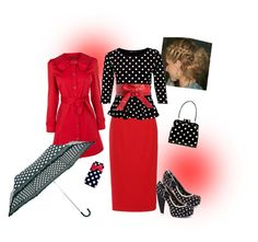 Polka Dot Love by estes9011 on Polyvore featuring Miso, Oasis, L'Wren Scott, Babycham, Lulu Guinness and Linea
