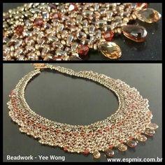 #colar feito por Yee Wong durante o curso de #beadwork. #handmade #joia  WWW.ESPMIX.COM.BR