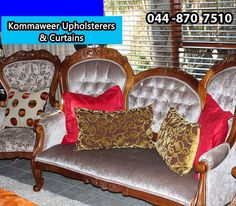 We all have that one piece of furniture that we are sentimental about, whether it's a family heirloom or a second-hand purchase, antique furniture is a real reflection of what a home really is. If your antique furniture needs any re-upholstery, contact #Kommaweer on 044 870 7510 for any assistance. #Upholstery