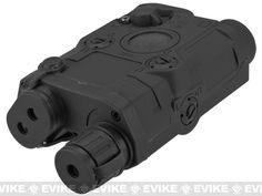 Matrix Airsoft PEQ-15 Battery Box w/ Laser System - Red Laser / Black