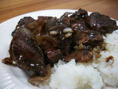 Steak Tips with Gravy Beef Tri Tip, Hanger Steak, Steak Tips, Onion Gravy, Special Occasion, Stuffed Mushrooms, Pork, Meat, Cooking