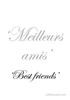 Trendy ideas for tattoo sister symbol words best friends French Language Lessons, French Lessons, French Phrases, French Words, How To Speak French, Learn French, True Friends, Best Friends, Sister Symbols