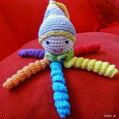 free tutorial Source by Preemie Octopus, Chat Crochet, Sewing Online, Crochet Octopus, Doll Face, Baby Knitting, Bunt, Crochet Necklace, Crochet Patterns