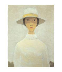 Jean Paul Lemieux - La Femme au Chapeau Blanc