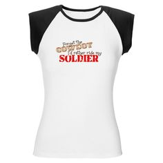 Super Cool Forget the Cowboy Military Women's Cap Sleeve T-Shirt by CafePress