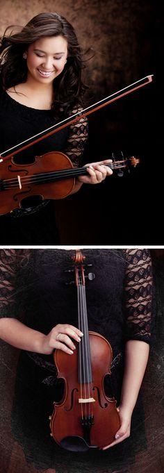Senior Portrait with #Violin  www.brandonburkphotography.com