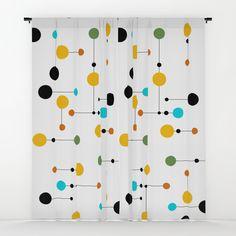 Mini Dot line Dot Window Curtains