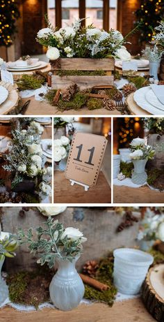 Rustic Winter Woodland Wedding Decorations - available from www.theweddingofmydreams.co.uk @theweddingomd