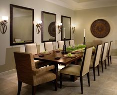 Dining Room Niche Ideas Wall Of Cabinets Mirrors Paneling R