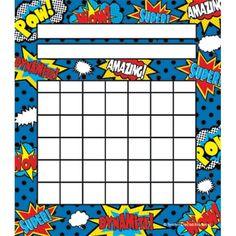 Superhero Incentive Charts, TCR5646