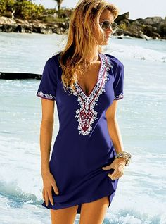 Embellished V-neck Dress - Victoria's Secret