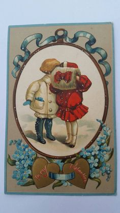 Check out this item in my Etsy shop https://www.etsy.com/listing/216954549/kissing-kids-german-valentine-postcard