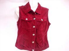 12.86$  Watch now - http://vihjt.justgood.pw/vig/item.php?t=xsegy8t3197 - Faded Glory Dark Red Sleeveless Velvet Cotton Vest Women's Small S (T25) 12.86$