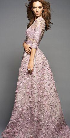 A soft purple Elie Saab as a wedding dress - Just a thought