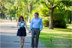 Riverside Park Engagement Session | Grand Rapids Wedding Photographer  http://www.somethingcleverpro.com/uncategorized/sam-skylers-grand-rapids-summer-engagement-session/
