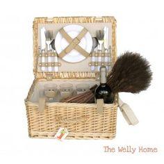 Cesta de picnic dee 4 servicios de The Welly Home