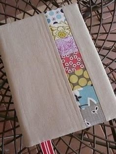 Patchwork Journal Cover- This simple patchwork pattern throws a homemade, personal spin on a simple, store bought journal.
