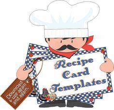 RECIPE CARD MAKER Type & Print online. | recipe book printables ...